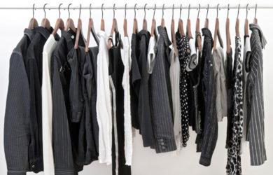 peças de roupa preta