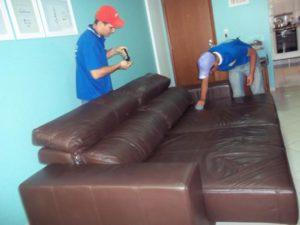 limpeza sofás de couro
