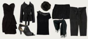 manchas peças roupa preta