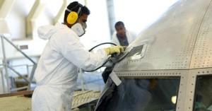 Limpeza de aeronaves