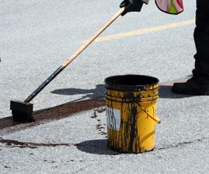 manchas de asfalto