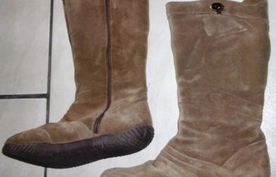 Tirar manchas de botas de camurça