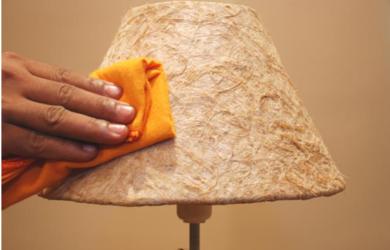 como limpar abajur